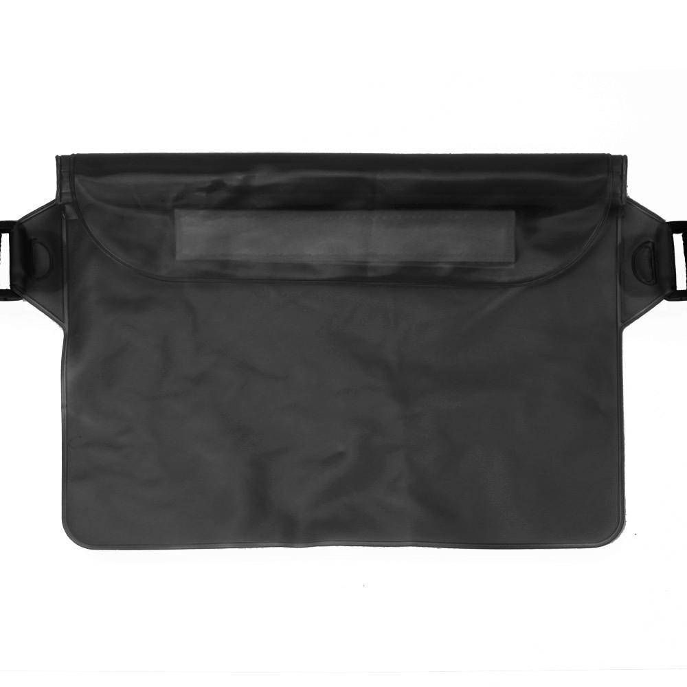 Start Sport Swimming Running Cycling Beach Waterproof Waist Belt Bag Items Dry Holder Strap Pouch (Black)