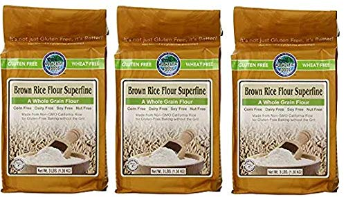 Authentic Foods Superfine Brown Rice Flour - 3lb (3-(Pack)) by Authentic Foods (Image #1)