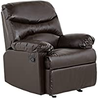 ACME 59015 Arcadia Recliner, Brown Bonded Leather