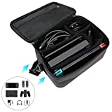 Nintendo Switch Carrying Bag Non-slip and Shockproof Protection Portable Travel Storage Bag Large Space Pouch Bag for Nintendo Switch & Accessories with Adjustable Shoulder Strap