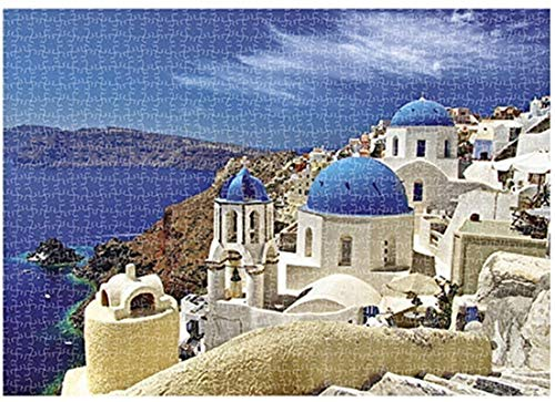 AIMIJIA Jigsaw Puzzles for Kids & Adult 1000 Pieces Difficult Mini Pieces Puzzles Family Decompression Games (Aegean sea)