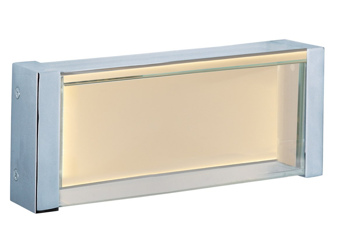 Maxim 39630CLPC Vista LED Bath Vanity Wall Sconce, Polished Chrome Finish, Clear Glass, PCB LED Bulb , 57.6W Max., Wet Safety Rating, 3000K Color Temp, Shade Material, 3000 Rated Lumens