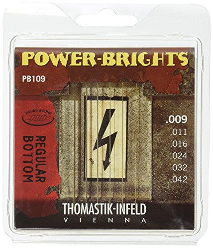 09 Power-Brights 6 String Magnecore Round Wound Set E, B, G, D, A, E ()