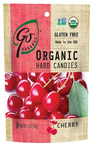 Cherry Hard Candy - GoOrganic Organic Hard Candies, Cherry, 3.5 Ounce Bag (Pack of 6)