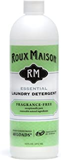 product image for Roux Maison All Natural HE Liquid Laundry Detergent, Odor Eliminator & Non-Toxic Stain Remover, 16oz, Essential, Fragrance Free
