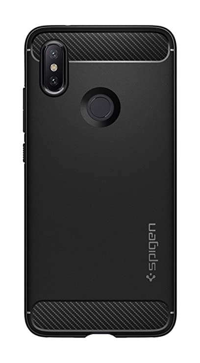 size 40 cd9ee 32786 Spigen Rugged Armor Patent Design Shockproof Protection Slim Profile for  Xiaomi Mi A2 / 6X Case Cover - Matte Black