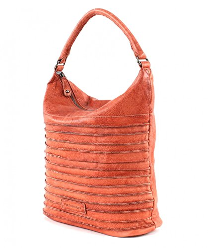 FredsBruder Grid Girl Borsa hobo marrone rosso