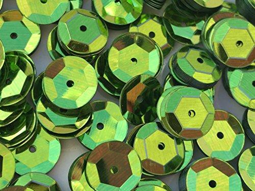 - Sequins 8mm 800/Pkg Lime Green
