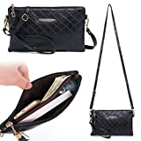 Zg Small Crossbody Purse for Women, Vegan Leather Wristlets, Clutch Wallet Purse with Shoulder Strap