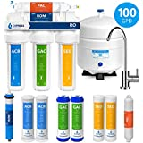 Express Water Reverse Osmosis Water Filtration System – 5 Stage RO Water Purifier with Faucet and Tank – Under Sink Water Filter – plus 4 Replacement Filters – 100 GPD