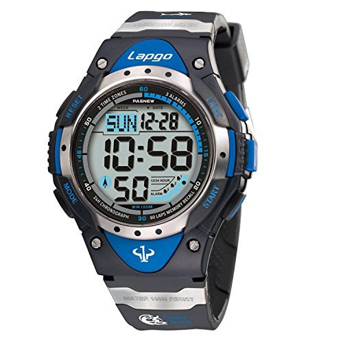 PASNEW Boys Watches Digital Watch Waterproof Sports Casual Boys Kids Watch Watches 1018d Blue by PASNEW