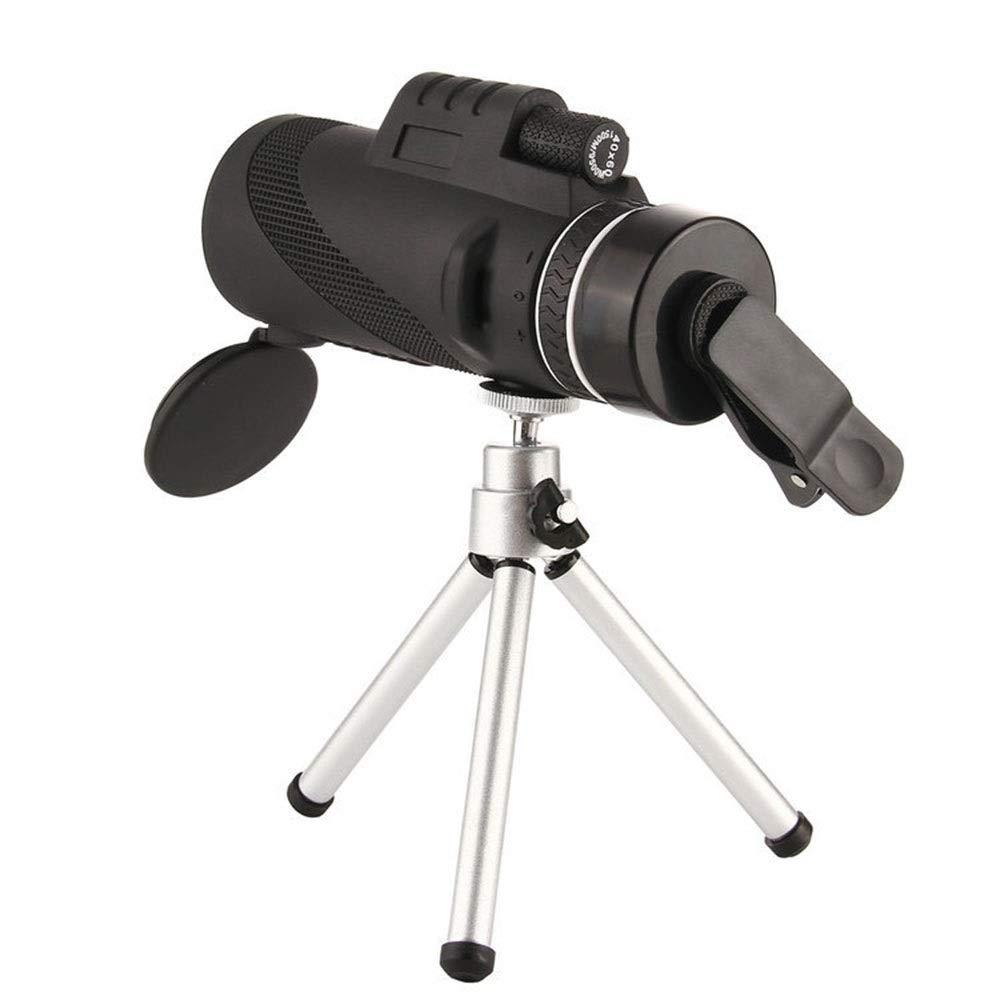 ZGQA-GQA HD High Power Telescope FMC Multi Coating Monocular BAK4 for Fishing Camping Hiking/Caving Bird Watching Black Waterpoof for Adult by ZGQA-GQA