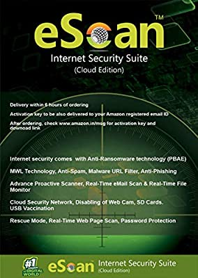 eScan Internet Security Suite with Cloud Security 3 Users 3 Years