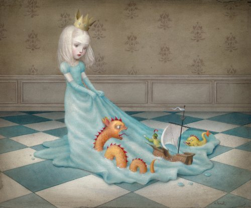 Artifact Puzzles - Nicoletta Ceccoli Love Will Tear Us Apart Wooden Jigsaw Puzzle