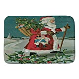 Christmas Decorations Clearance,Jchen(TM) Home Decor Merry Christmas Welcome Doormats Indoor Merry Christmas Print Carpets 40x60CM (F)