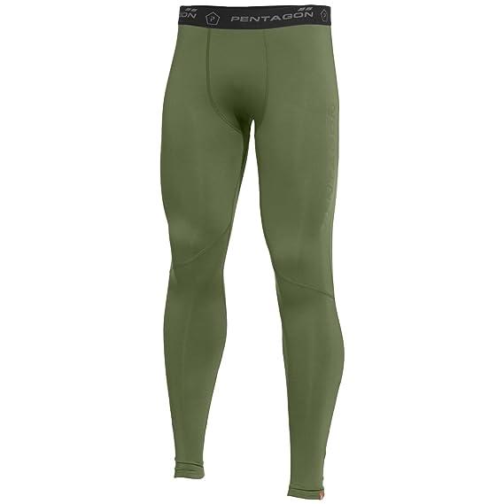 2e5f03d653c Pentagon Men s Kissavos 2.0 Thermal Pants Olive  Amazon.co.uk  Clothing