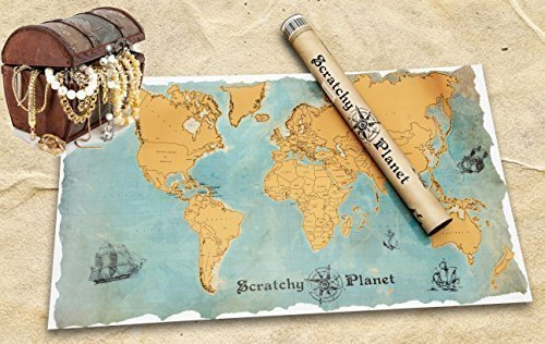 ... Weltkarte zum Rubbeln, ...