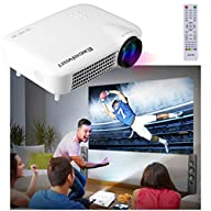Excelvan 3000 Lumens HD Multimedia LED Projector Support 1080P AV/VGA/HDMI/ATV/USB 1280*800 For…