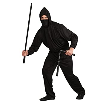 Dark Ninja - Adult Costume Men : X LARGE: Amazon.es ...