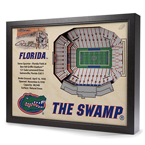 NCAA Florida Gators 25-Layer StadiumView 3D Wall Art (Florida Gators Stadium)