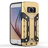 Galaxy S7 case IBTS®Heavy Duty Armor Shockproof Protection Case Cover with Built-in Kickstand (S7-Gold)