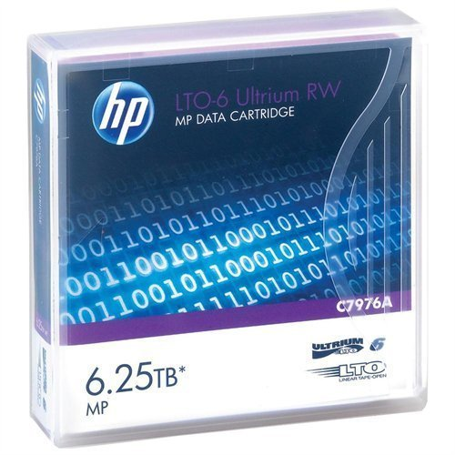 5-Pack HP LTO 6 Ultrium C7976A (2.5/6.25 TB) Data Cartridge by HPE