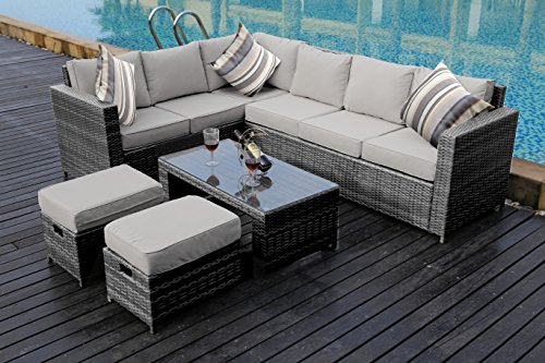 YAKOE-50110-New-Conservatory-Modular-8-Seater-Rattan-Corner-Sofa-Set-Grey