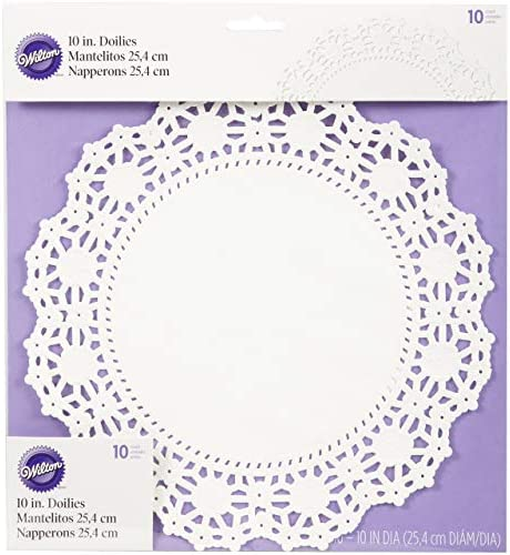 Wilton 10 Count Grease Proof Doilies, 10-Inch, White