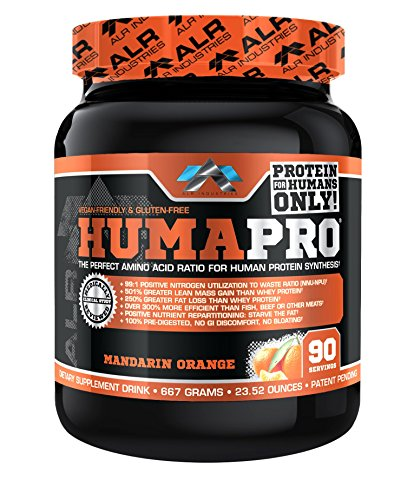 ALR Industries Humapro, Protein Matrix Formulated for Humans, Waste Less. Gain Lean Muscle, Mandarin Orange, 667 Gram