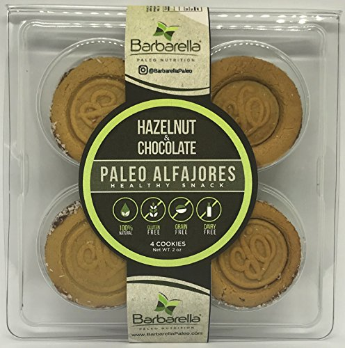 Paleo Hazelnut Alfajores, 4 Cookies (Pack of 4). 16 Alfajores in total
