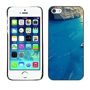 Cubierta de la caja de protección la piel dura para el Apple iPhone 5 / 5S - Wood Texture Aged
