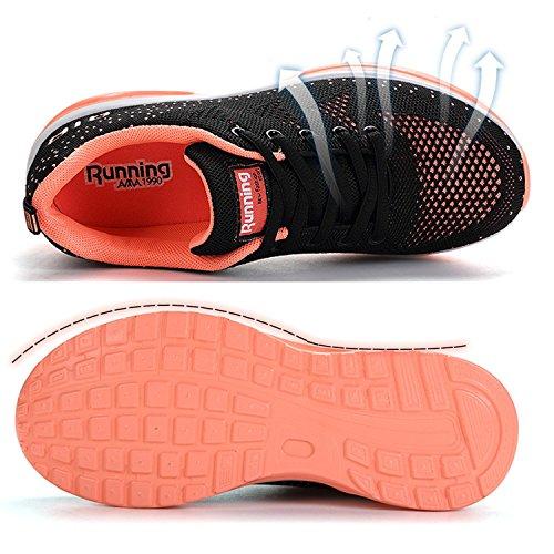 JACKSHIBO Women Lighweight Air Cushion Comfort Running Shoes,Women Blackpink 41 by JACKSHIBO (Image #2)