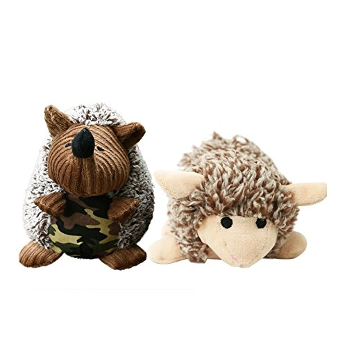 Stock Show 2Pcs Dog Squeaky Toy Stuffed Plush Hedgehog Shape Toys Dog Chewing Teeth Cleaning Toys for Puppy Pup Small to Medium Dogs Review