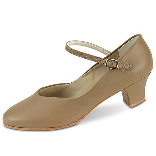 ceffd11e52855 Amazon.com | Danshuz Womens Tan Versatile Character Heel Dance Shoe ...