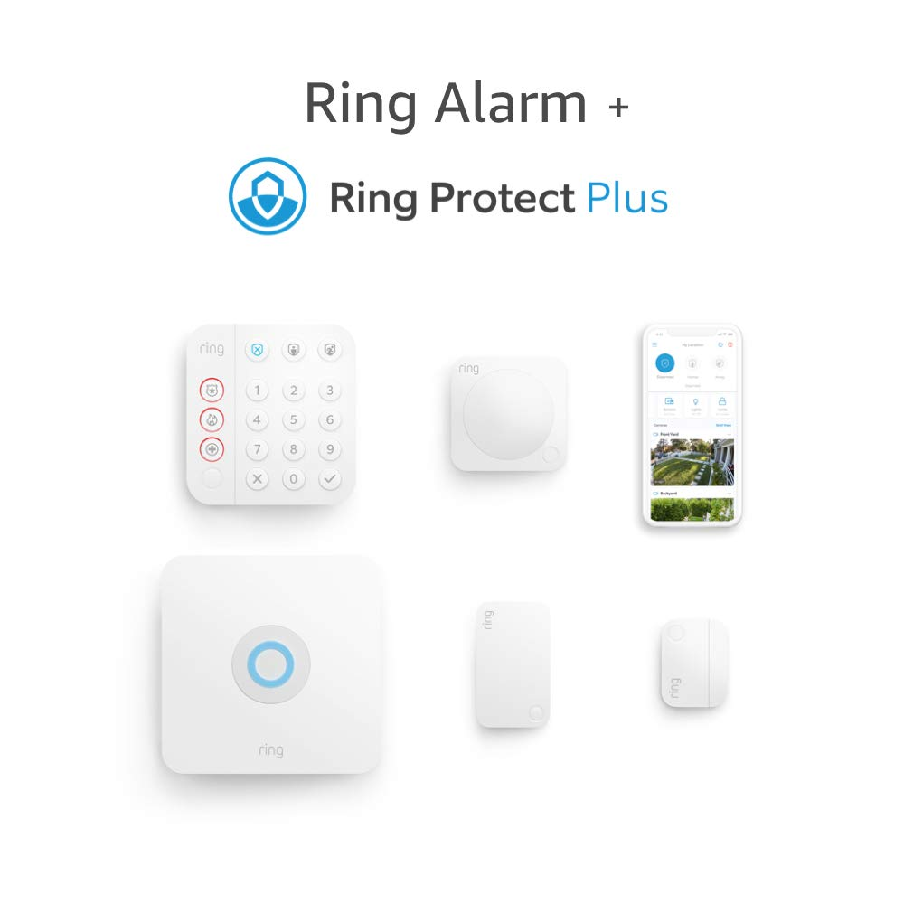 Ring Alarm 5-piece kit (2nd Gen) + Ring Protect Plus Plan with annual auto-renewal