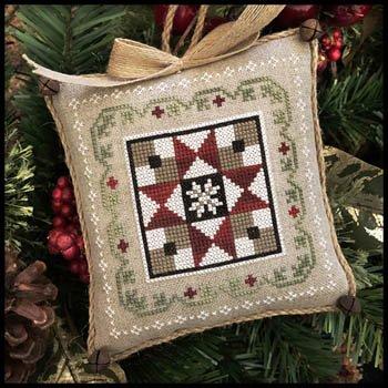 Farmhouse Christmas 5 - Grandma's Quilt Cross Stitch Chart and Free -