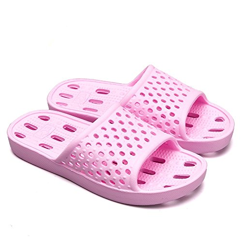 Summer Breathable House Women Men Shower Pool and Sandals Qiucdzi Slip Slippers Light Non Indoor Shoes Bath Pink 7vwX7xY