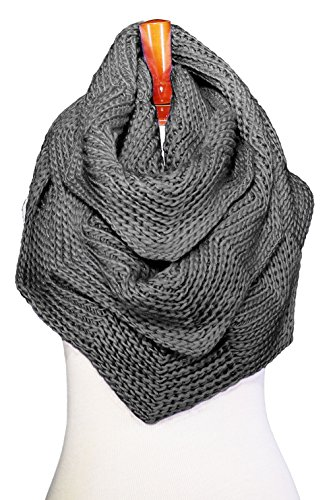 Basico Women Winter Infinity Scarf Warm Knitted Circle Loop Various Colors