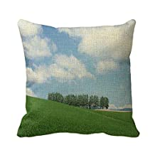 Home Decorative Square Custom Throw Pillow Cover Elegant Theme Nature Wonderful Theme Nature 20 X 20Inches Cotton Linen Comfortable Throw Pillowcase