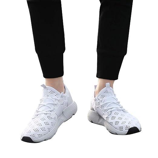 JiaMeng Zapatillas de Running Deporte y Aire Libre Hombres Zapatos Entrenamiento Zapatillas de Correr Malla Transpirable Moda Zapatillas de Deporte: ...