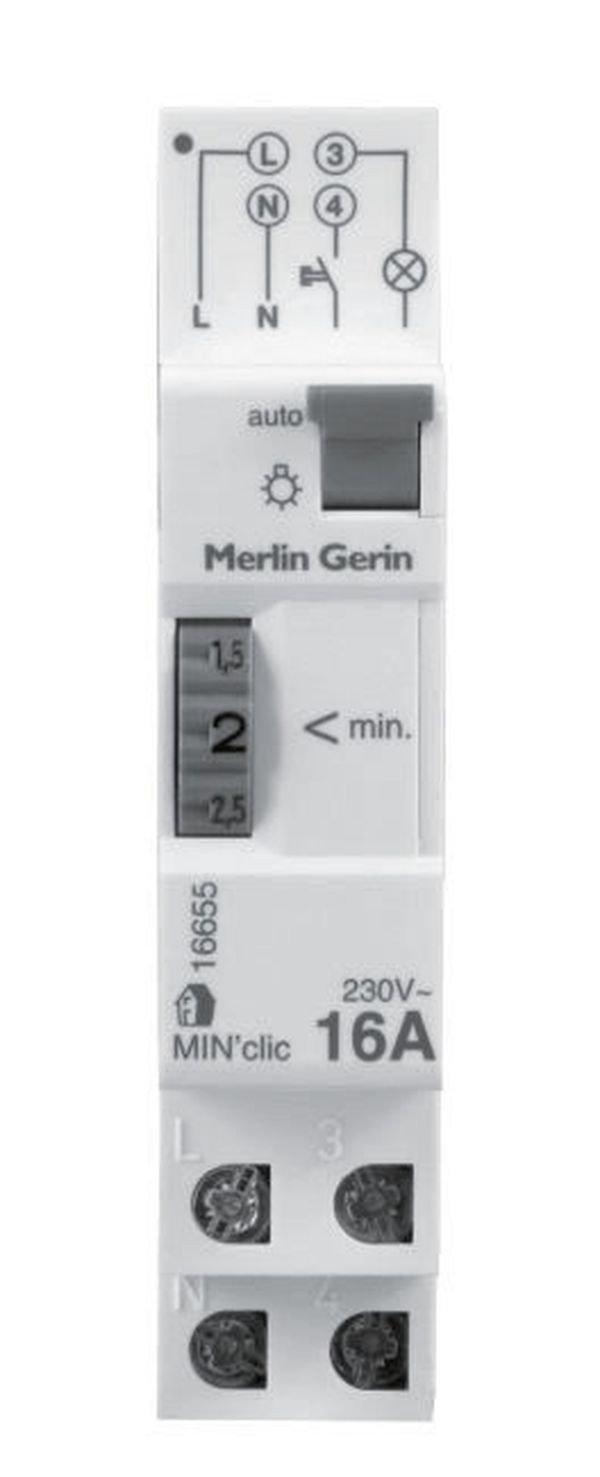 Schneider Electric SC5SHN0316655 Minuterie minclic 1 /à 7minutes 1 module