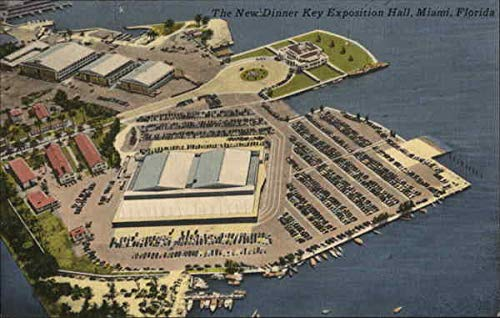 The New Dinner Key Exposition Hall Miami, Florida Original Vintage Postcard from CardCow Vintage Postcards