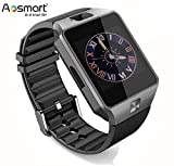 Bluetooth Smart Watch with Camera, Aosmart DZ09 Smartwatch for Android Smartphones (Black)