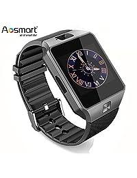 Aosmart DZ09 Smart Watch, Bluetooth Touch Screen Smart Wrist Watch Phone with Camera (Black)