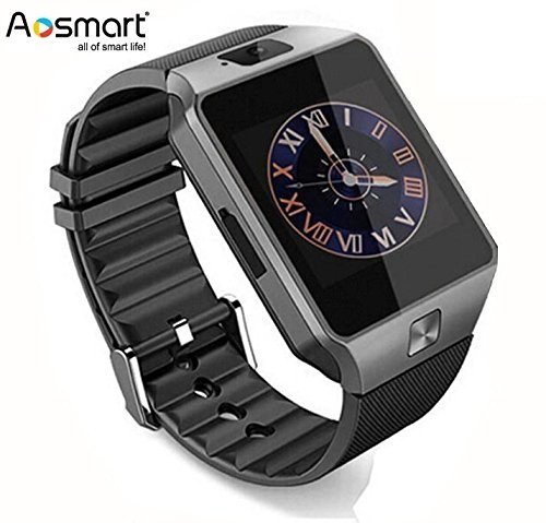 Bluetooth Smart Watch with Camera, Aosmart DZ09 Smartwatch for Android Smartphones (Black) by Aosmart