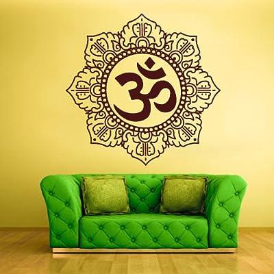Wall Decal Vinyl Sticker Decals Hindu Om Symbol Buddha Indian Word (Z1365)