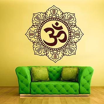 Wall Decal Vinyl Sticker Decals Hindu Om Symbol Buddha Indian Word ...