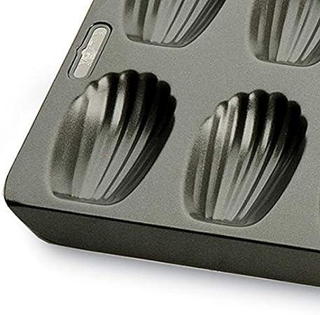 Kitchen Craft Chicago Moule /à madeleines m/étallique Professionnel Anti-adh/ésif 40/x 19/cm