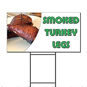 Ahumado Turquía patas restaurante café bar plástico corrugado Yard Sign/libre juego dos lados impresión 18x 24