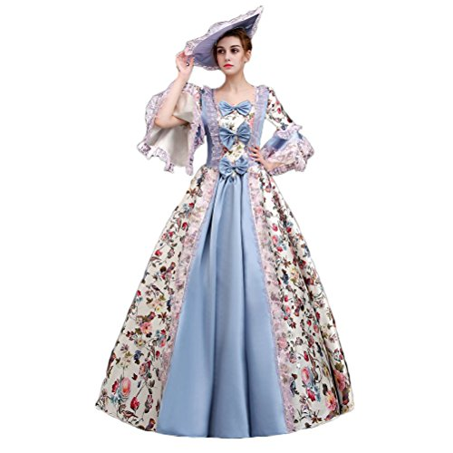 Plus Size Masquerade Ball Costumes (Zukzi Women's Floor Length Victorian Dress Costume Masquerade Ball Gowns, X7935, Customized)